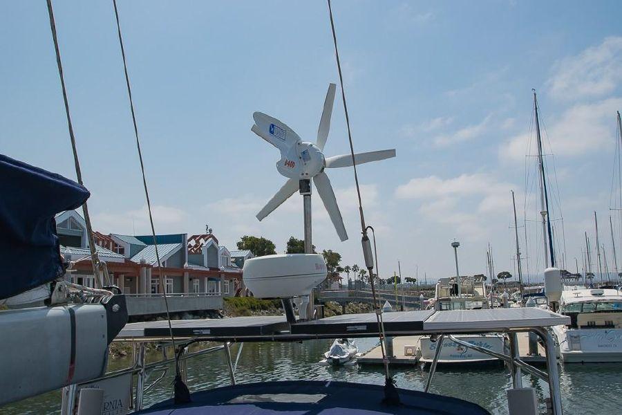 Island Packet 45 Sailboat Wind Solar Generator