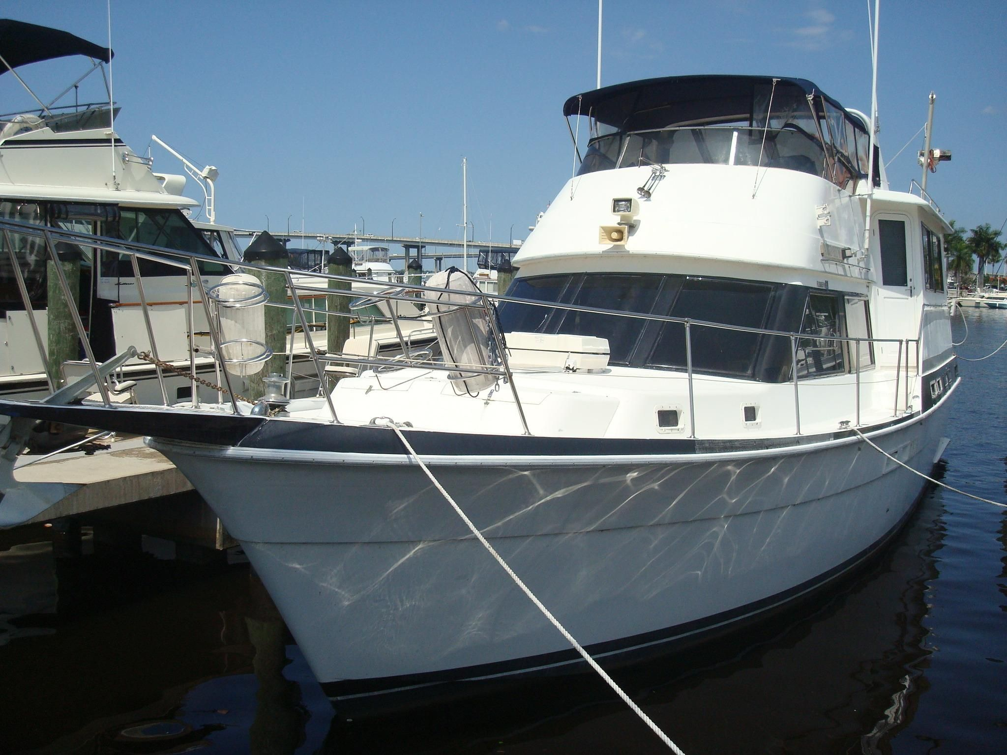 1987 gulfstar 49 motor yacht power boat for sale www for Large motor yachts for sale