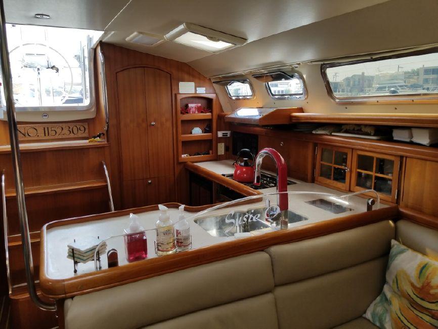 Hunter 426 Sailboat Galley Kitchen