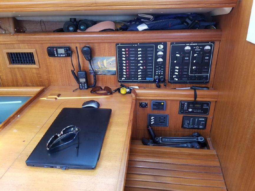 Hunter 426 Sailboat Nav Station