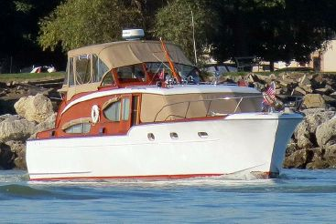 1953 Chris Craft 45 Double Cabin Flybridge Cruiser