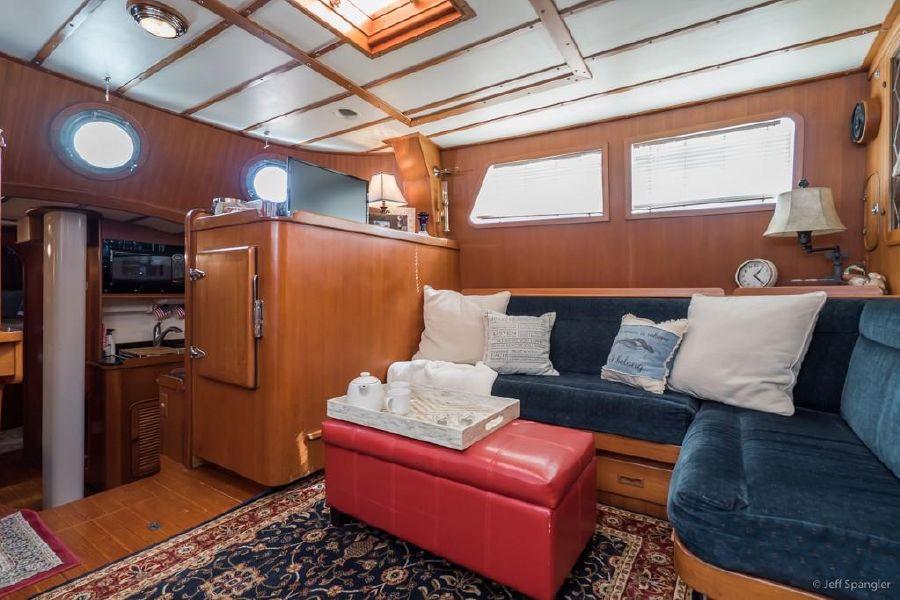 Mason 63 Ketch Sailboat Interior Salon