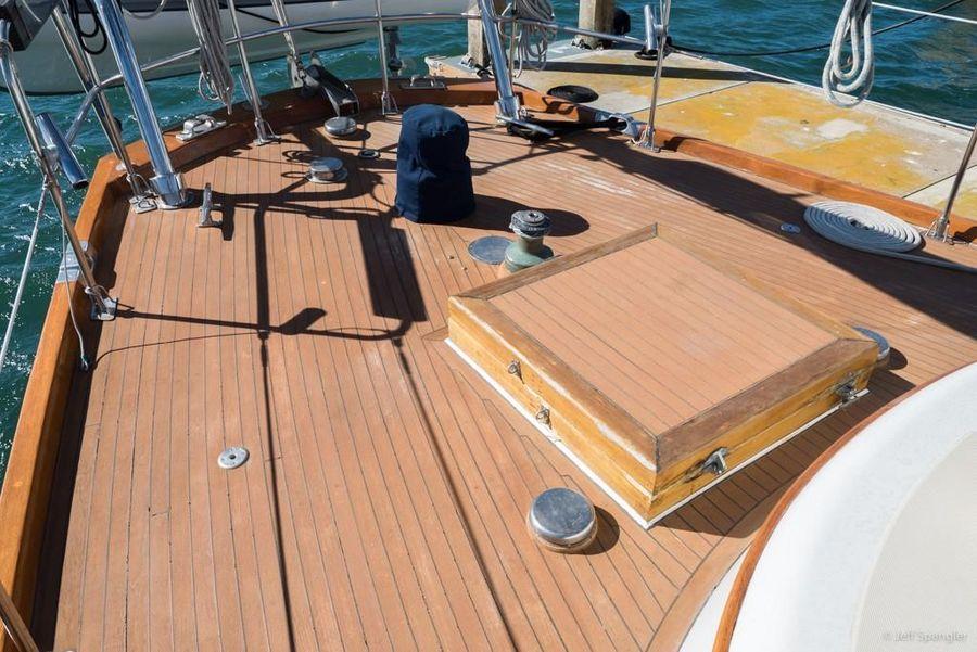 Mason 63 Ketch Sailboat Deck