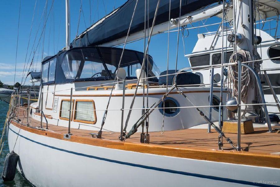 Mason 63 Ketch Starboard Side Profile