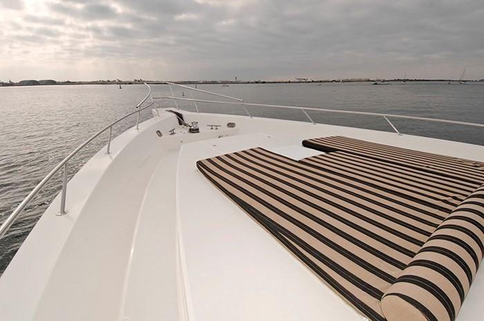 NorthCoast 82 Yacht Bow Cushions