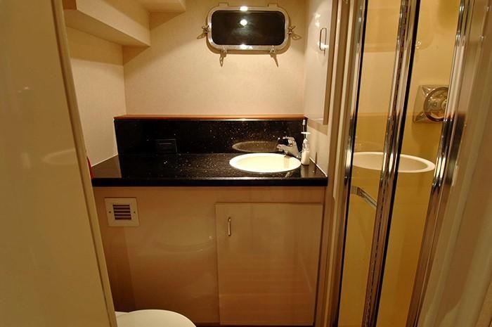 NorthCoast 82 Yacht Crew Bathroom