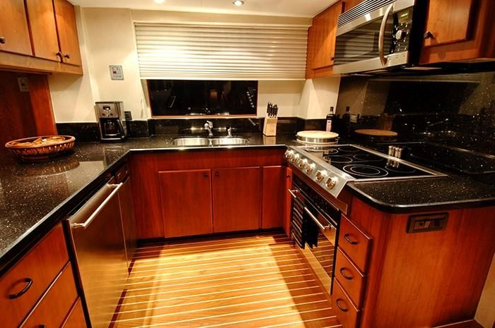 NorthCoast 82 Yacht Galley Kitchen