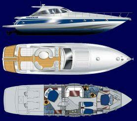 2001 Pershing 65
