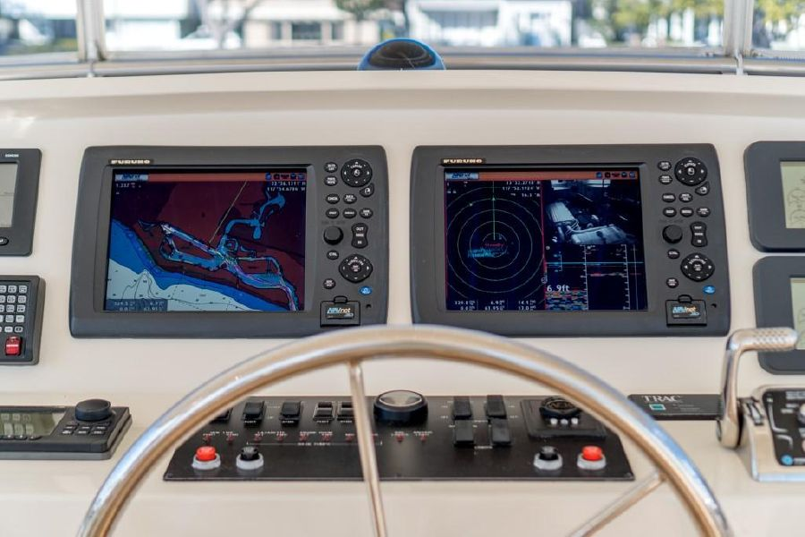 Offshore 64 Voyager Flybridge Helm Electronics