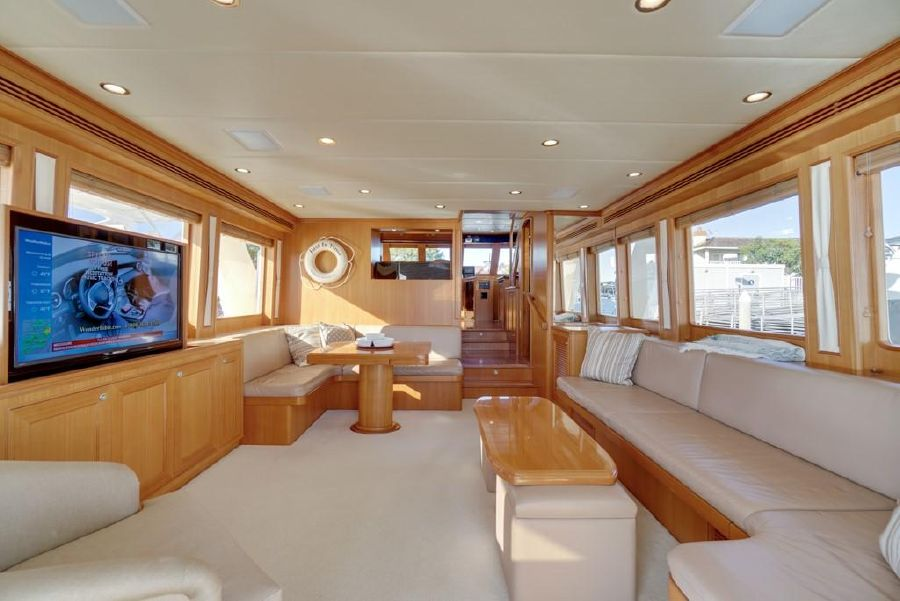 2010 Offshore 64 Voyager Yacht Salon Interior