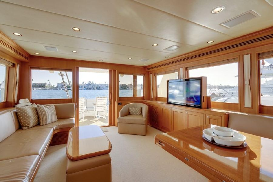 Offshore 64 Voyager Yacht Interior Salon Looking Aft