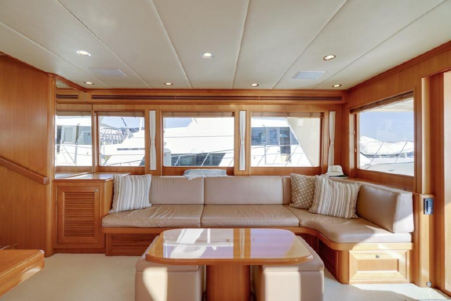 Offshore 64 Yacht Salon Sofa