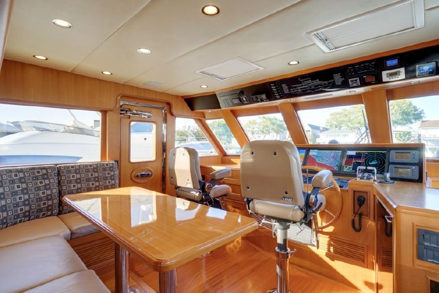 Offshore 64 Long Range Cruising Yacht Pilothouse
