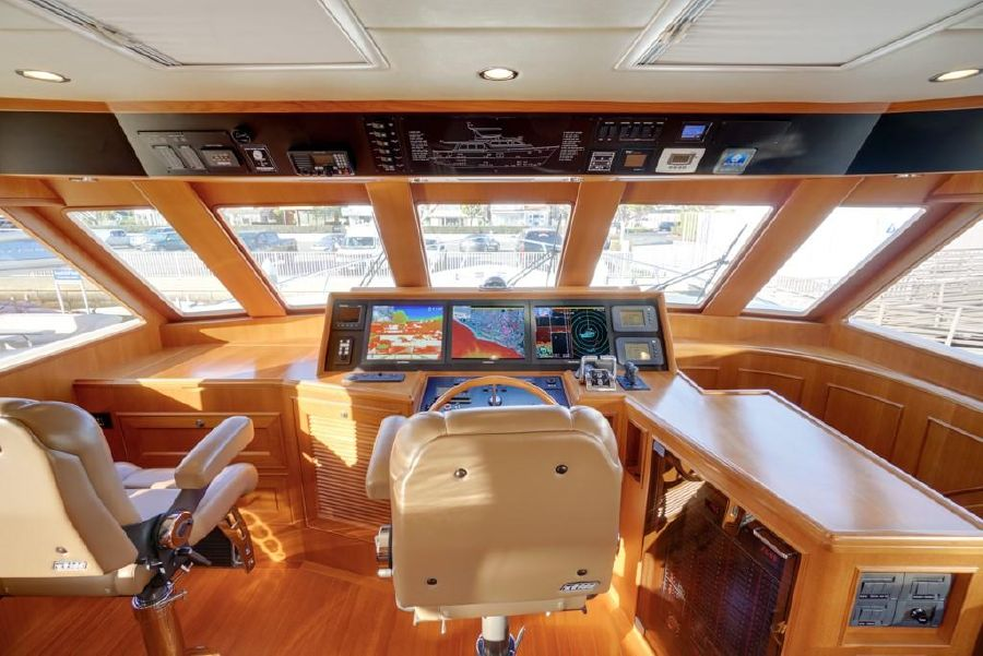 Offshore 64 Pilothouse Yacht Helm Station