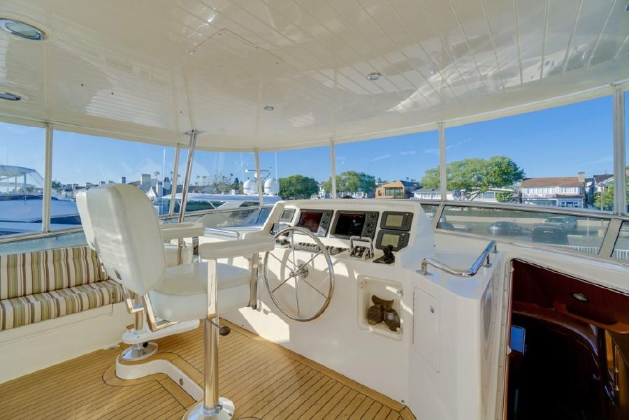 Offshore 64 Voyager Yacht Flybridge Helm