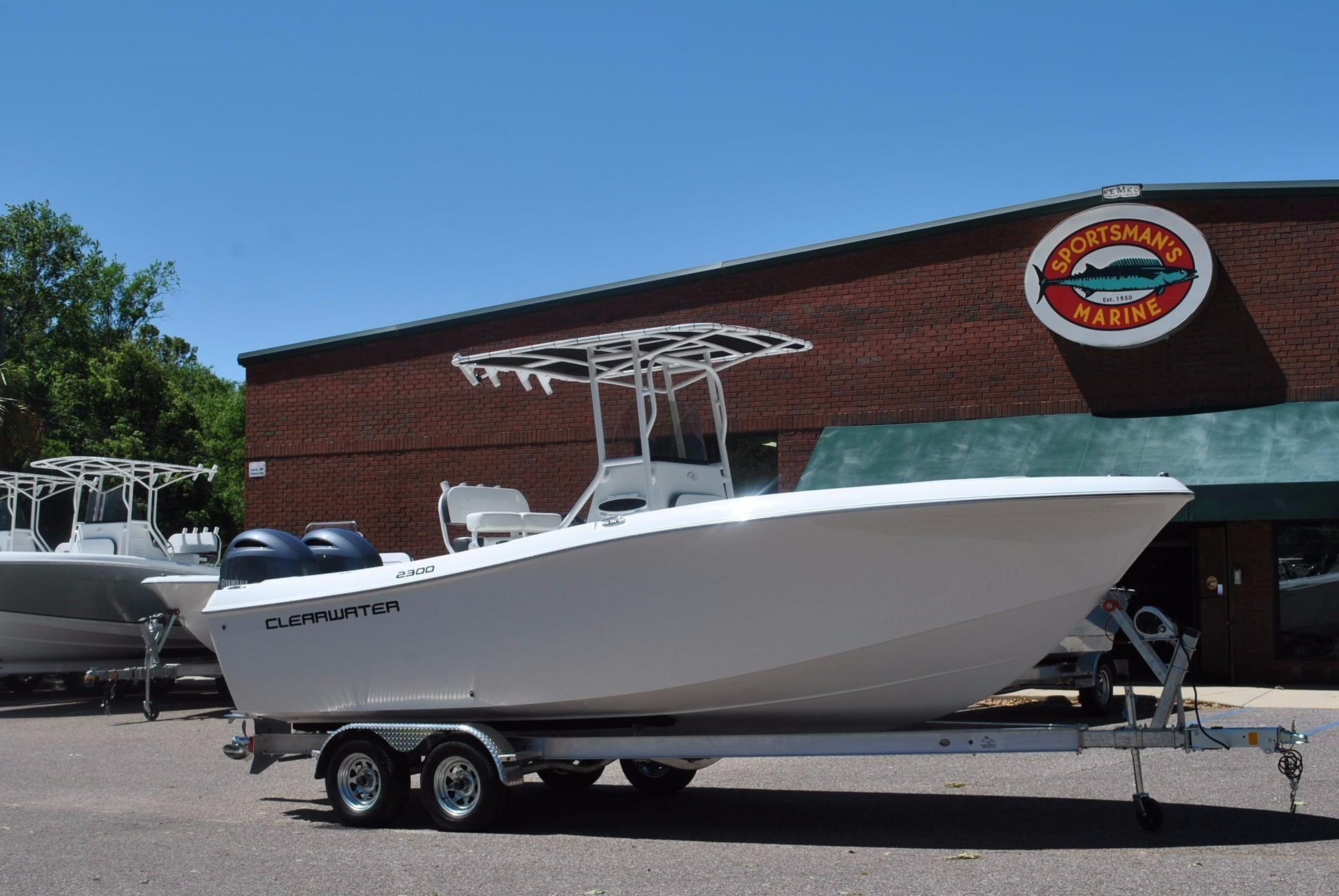 2017 Clearwater 2300 Cc White Motor Boot Zum Verkauf
