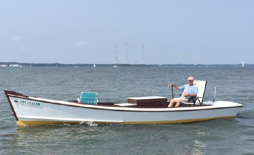 1995 Mast & Mallet Smith Island Crab Scraping Skiff