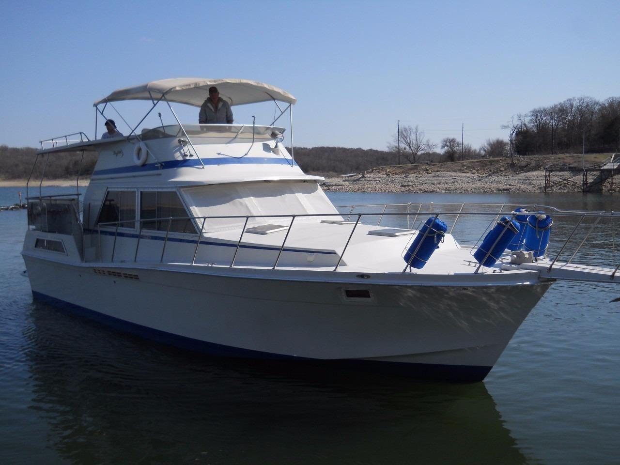 1982 Uniflite 42 Double Cabin Power Boat For Sale Www