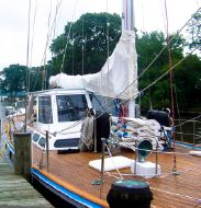 Photo of 70' Windship U.S. Built 4SR transAtlantic under power Cutter
