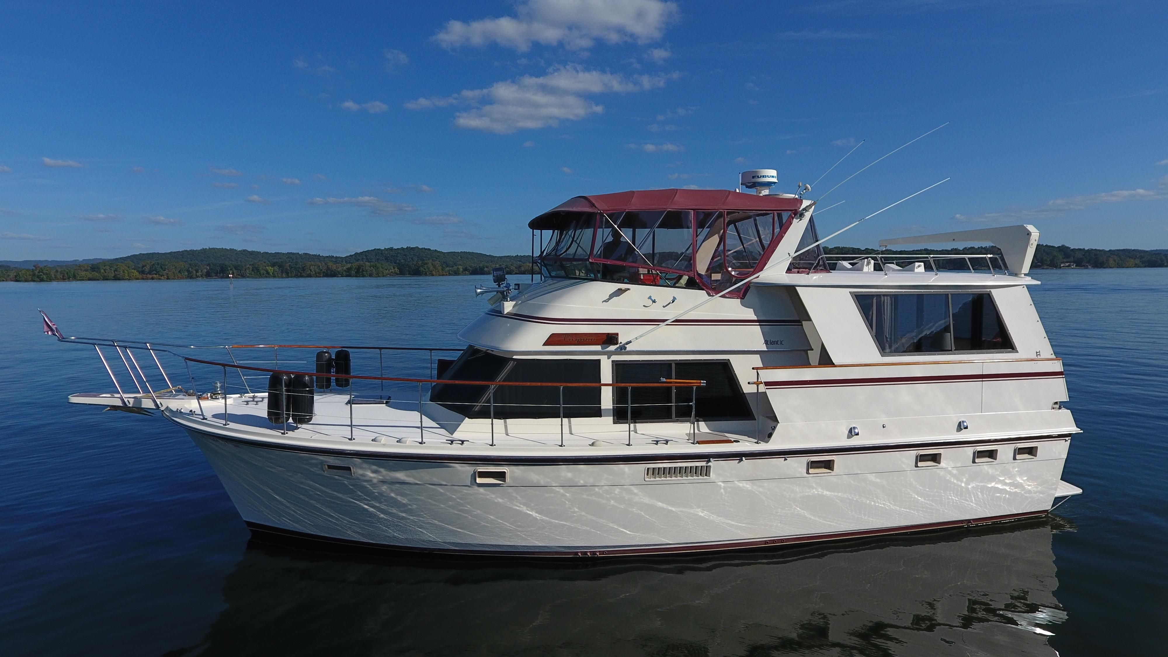 47 Atlantic Motor Vessel: 1985 Atlantic 47 Power New And Used Boats For Sale