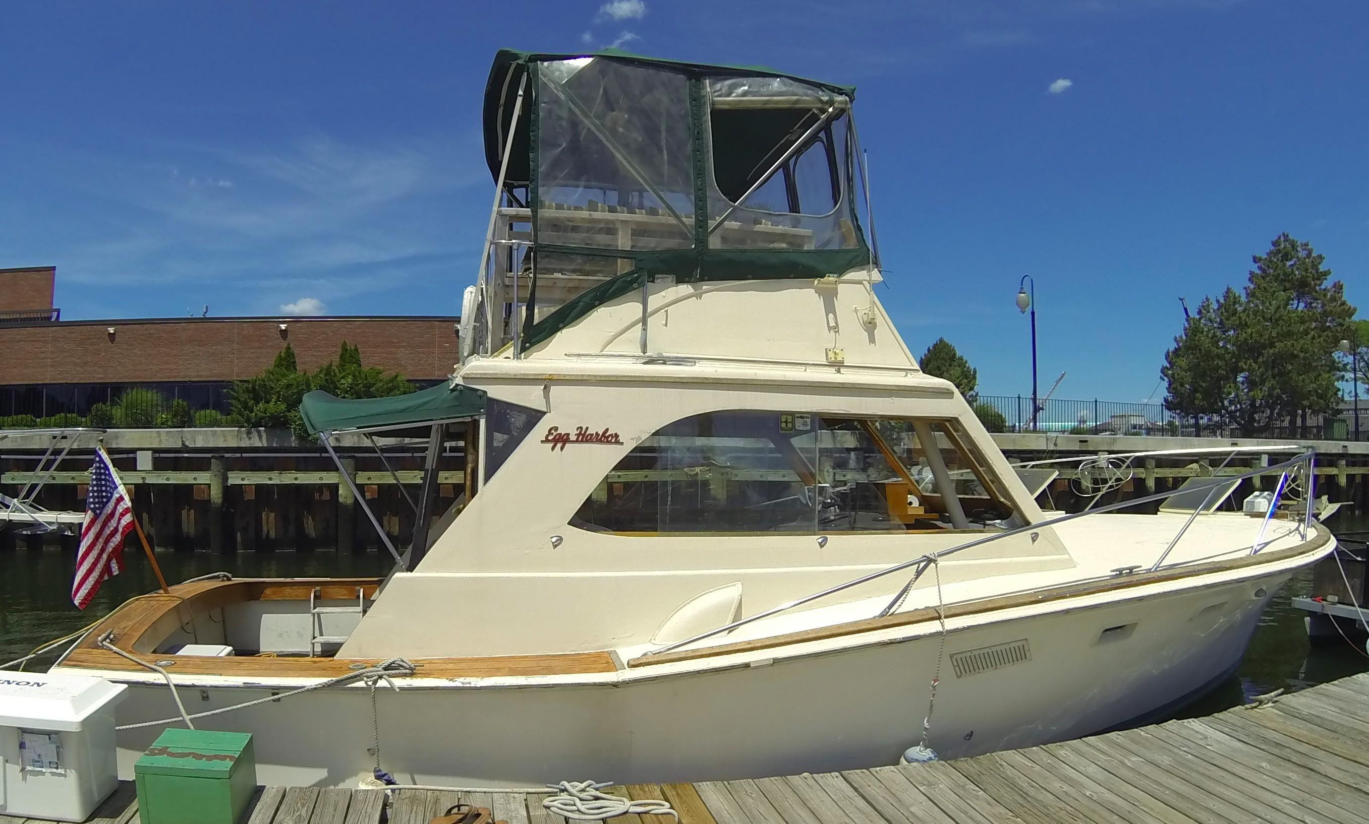 1973 Egg Harbor 33 Sedan Power Boat For Sale Www