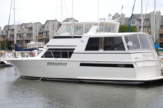 1994 Viking Yacht aft cabin open bridge