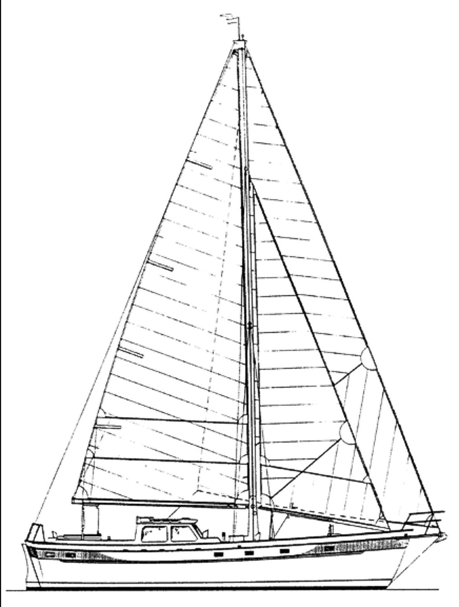 1994 Ted Brewer Alaska 43 Cutter Sail Boat For Sale