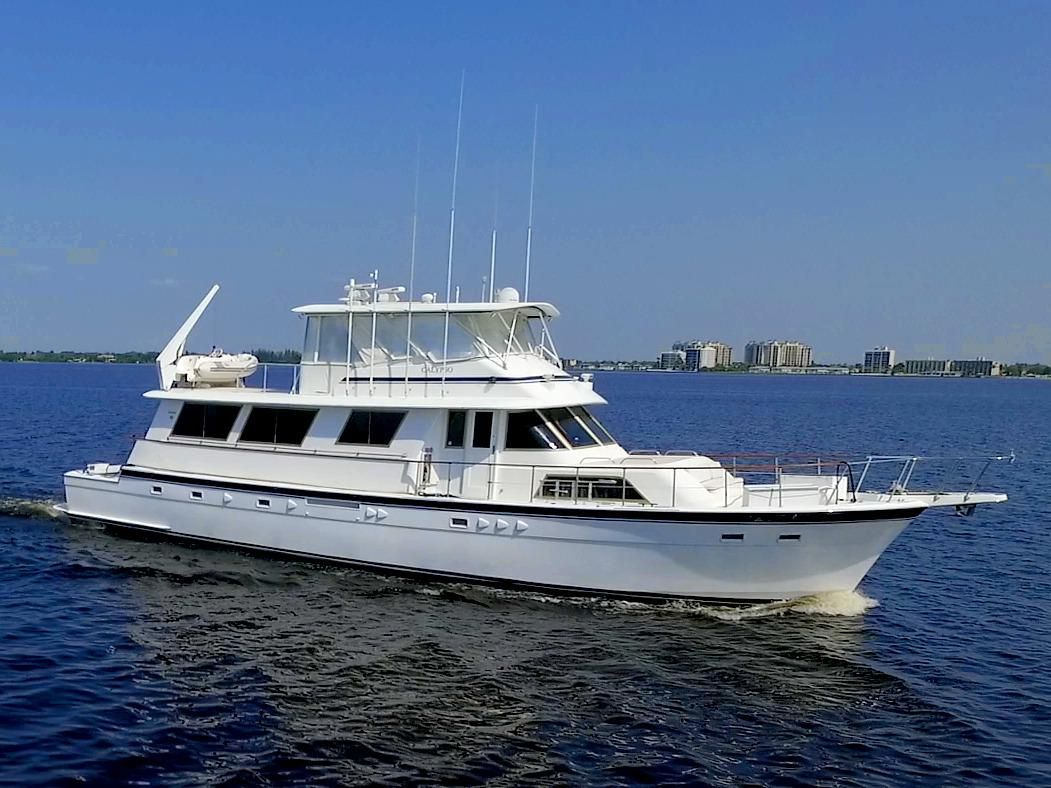 1982 hatteras 70 cockpit motor yacht power boat for sale for Hatteras motor yacht for sale