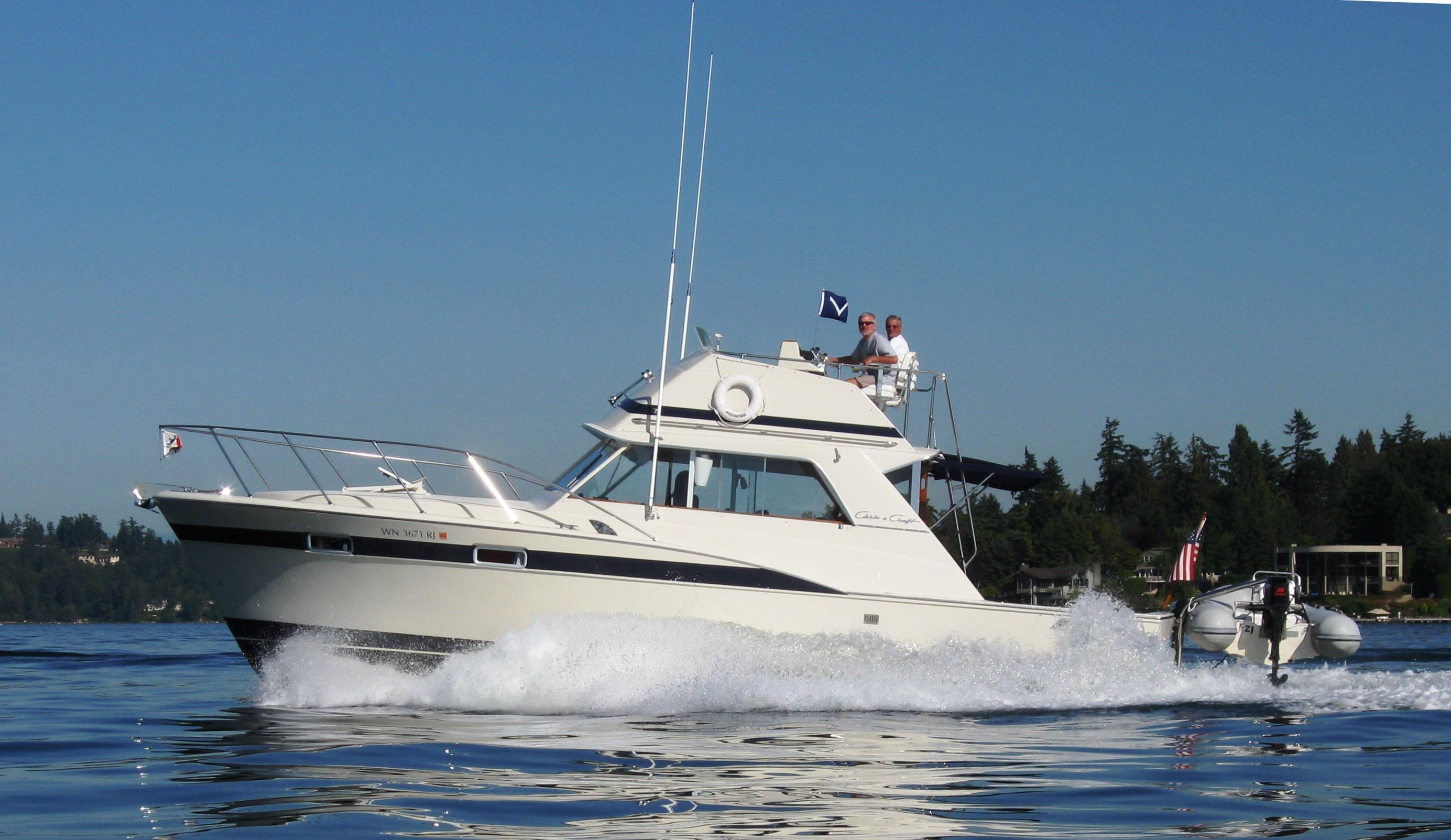36 ft 1977 chris craft 360 commander