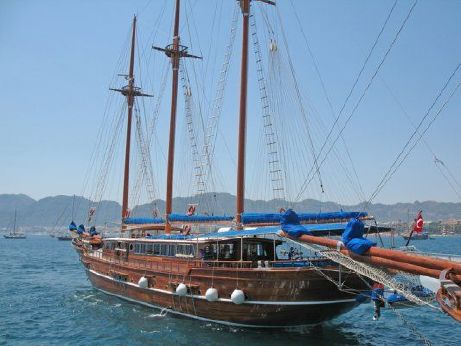 2007 3 Mast Gaff Rig Schooner Traditional Turkish Motorsailer