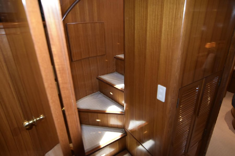 1998 Symbol Yachts 50 Pilothouse Spiral Staircase