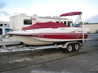 20 ft 2007 hurricane gs 202 deck boat