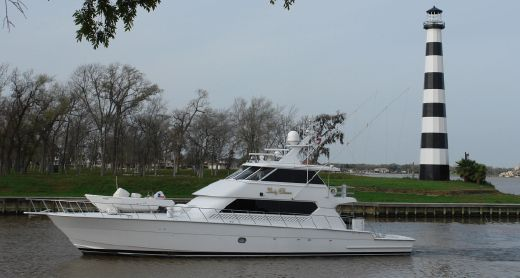 2001 Hatteras 86 Convertible Enclosed Bridge