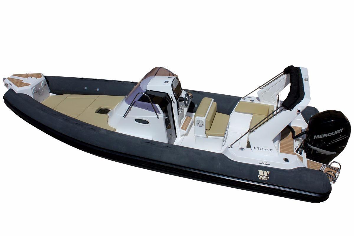 2018 tiger marine 850 top line cabin rib motor b d til salg for Best outboard motor 2017