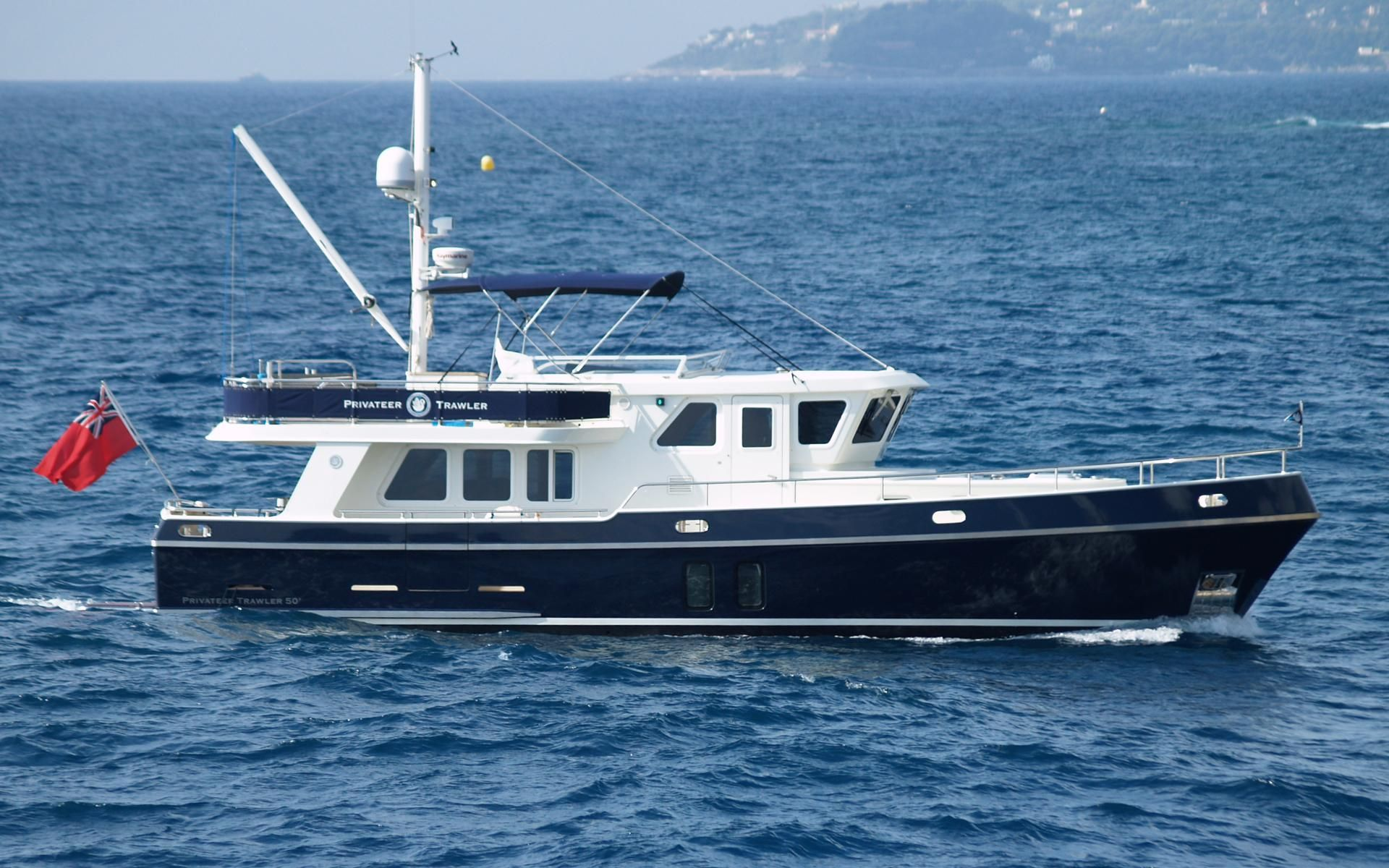 2012 privateer trawler 50 power boat for sale www for Fishing yachts for sale