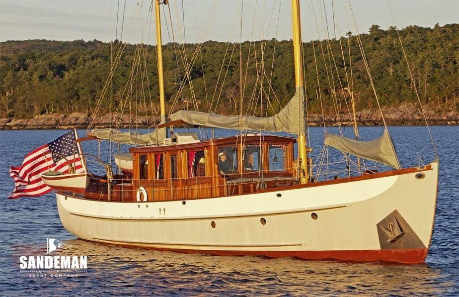 1938 Alden Classic Motor Sailer Sail Boat For Sale - www
