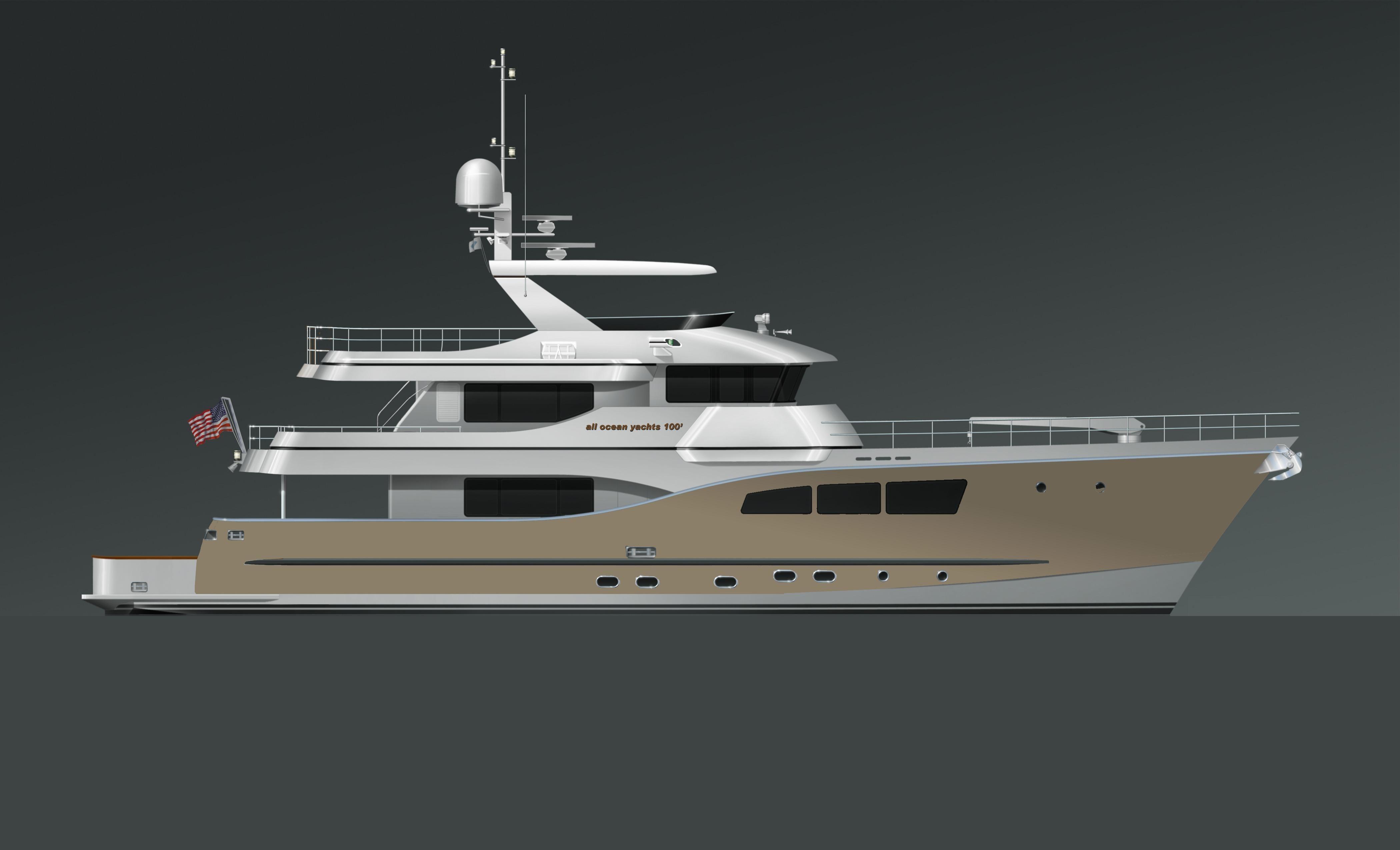2019 All Ocean Yachts Tri-Deck Explorer Yacht Motor Boot zum Verkauf -