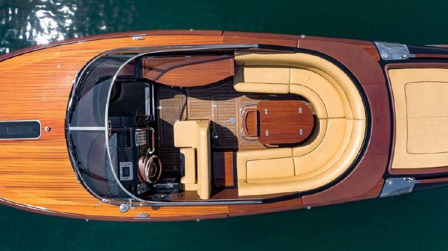 Riva Aquariva Super Yacht from Above