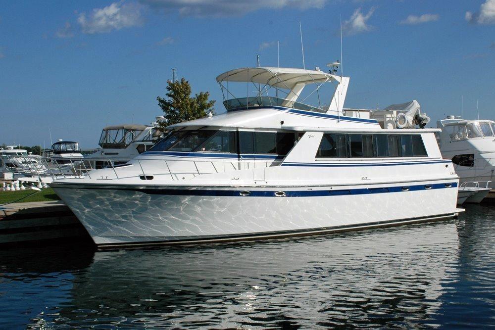 1988 vantare 58 flush deck motor yacht power boat for sale