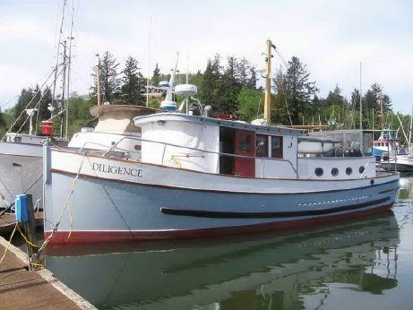 1947 Custom Trawler Classic Wood Yacht