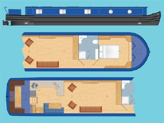 """2020 Wide Beam Narrowboat Tingdene Colecraft 65 x 12'06"""""""