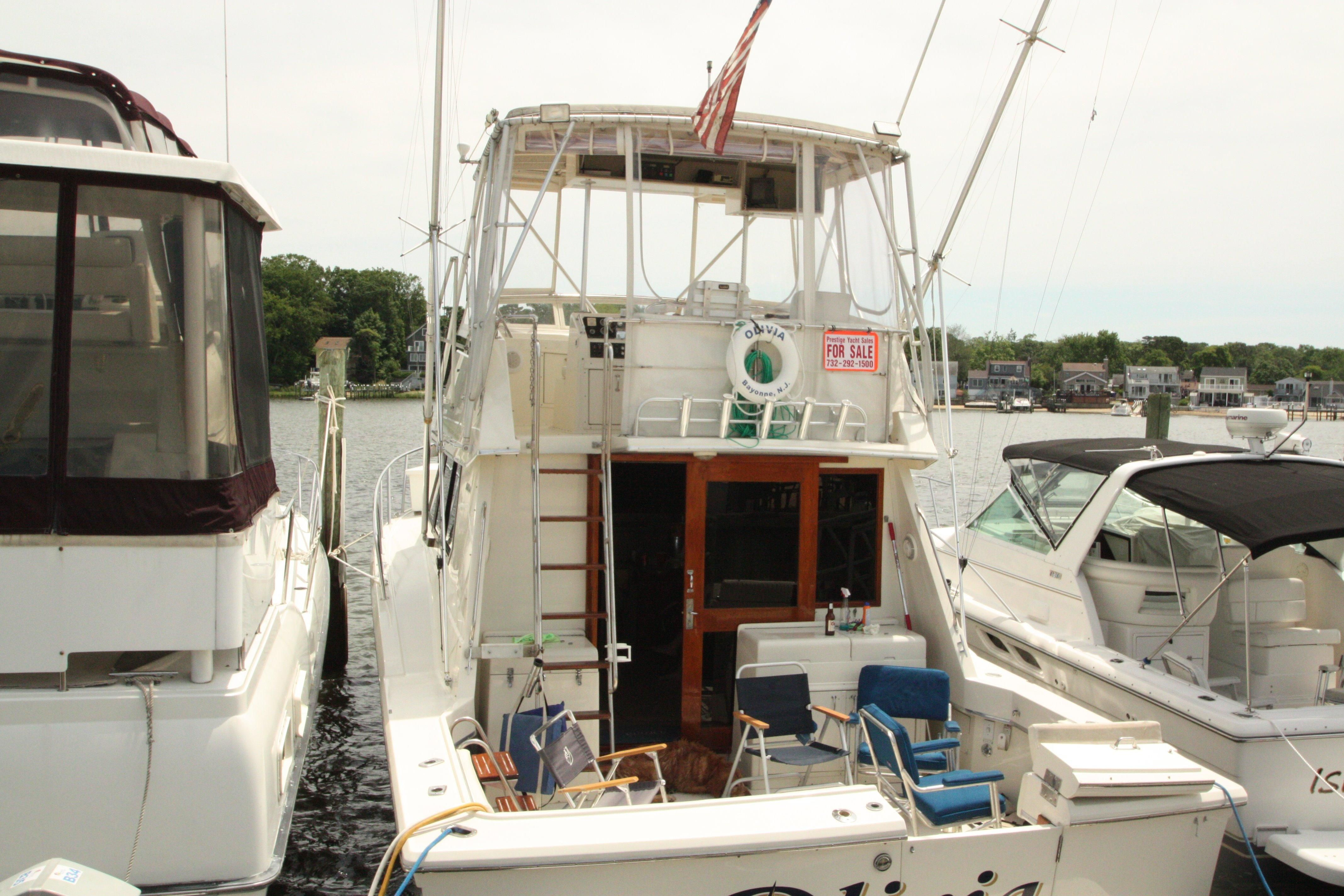 1987 Hatteras 36 Sport Fisherman Power New And Used Boats For Sale Marine Ac Dock Wiring Panel