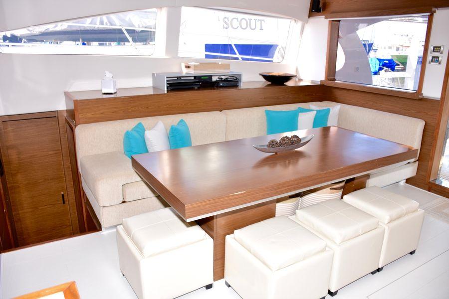 Sunreef Power 70 Catamaran Dining Table