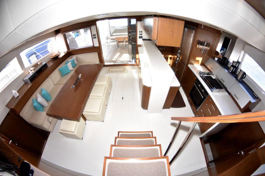 Sunreef 70 Power Catamaran Salon Layout