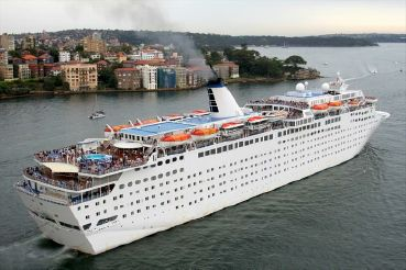 1986 Modern Cruise Ship, 1486 Passengers -Stock No. S2392
