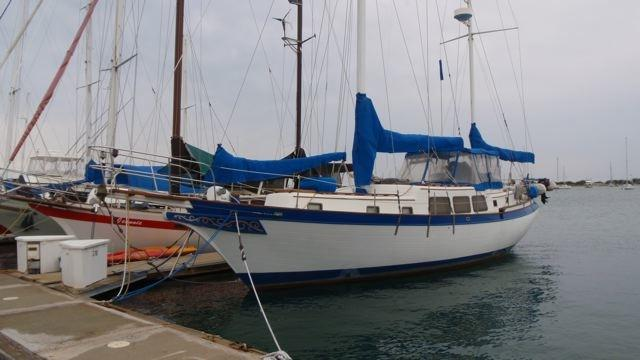1980 downeaster center cockpit cc staysail ketch sail boat for sale