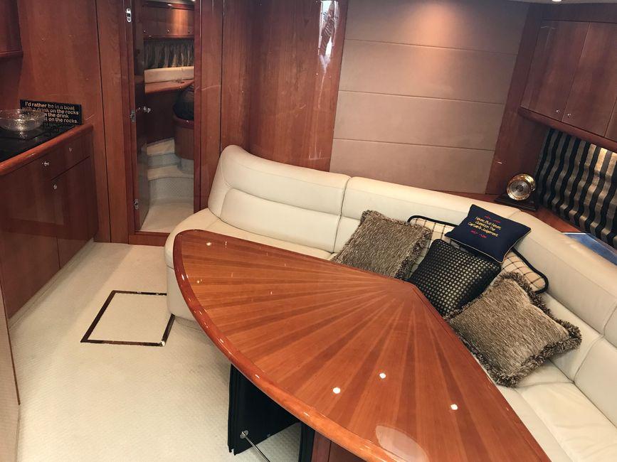 Sunseeker 53 Portofino Yacht Interior Salon Settee