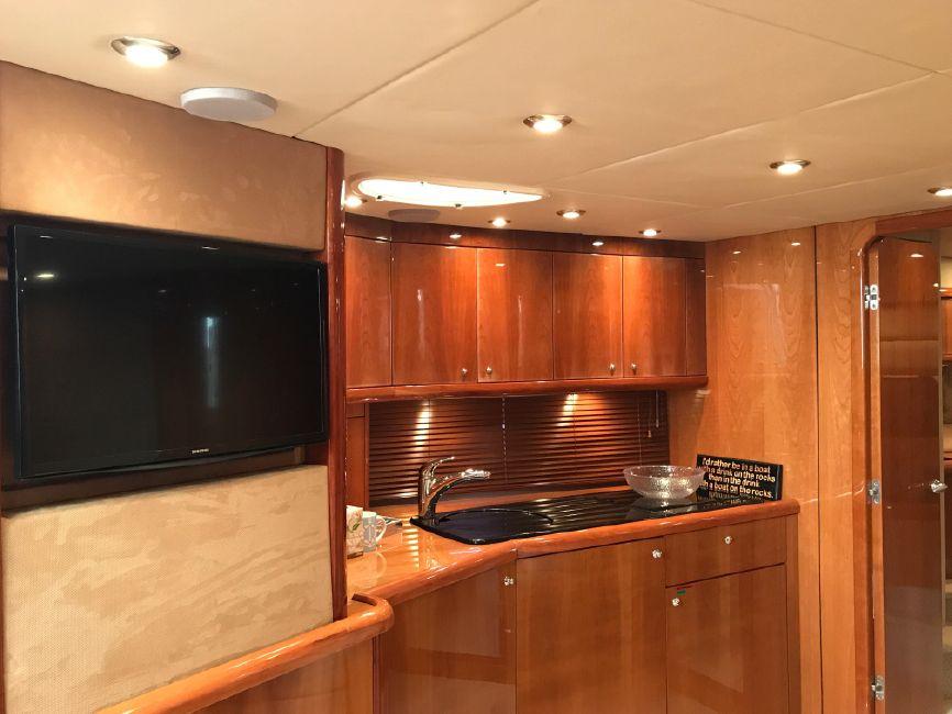 Sunseeker Portofino 53 Yacht Kitchen Galley