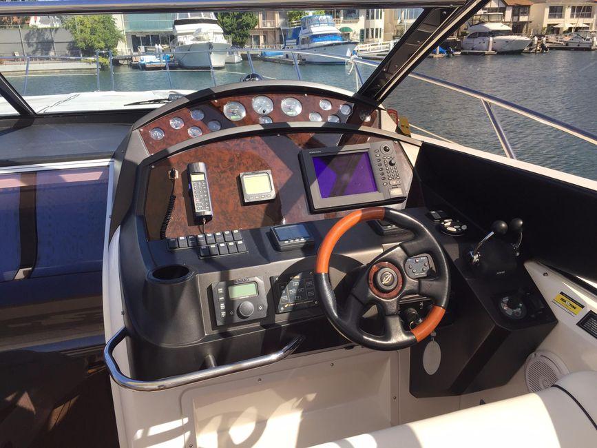 Sunseeker 53 Portofino Yacht Helm Controls
