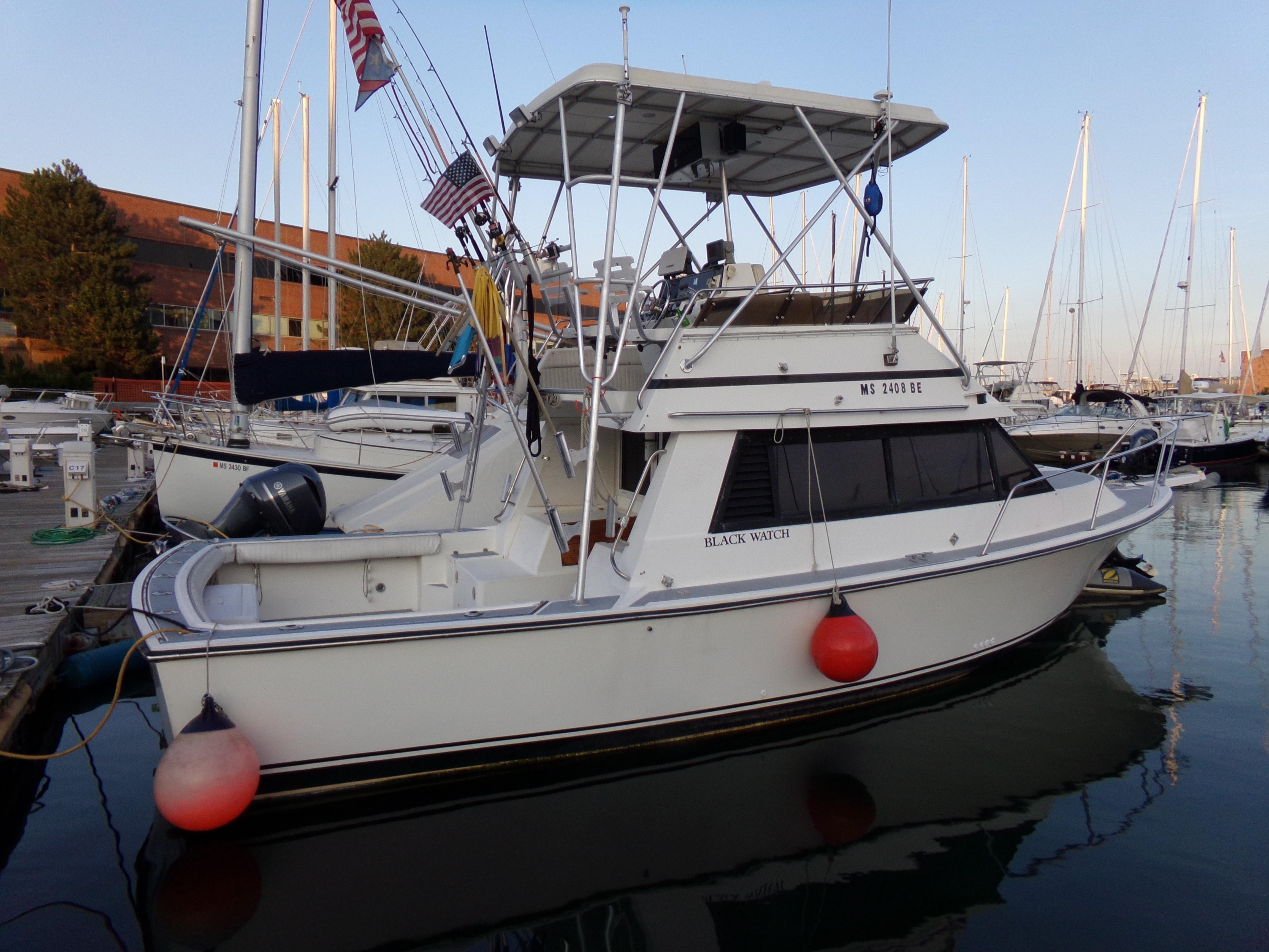 1989 Black Watch 30 Flybridge Power Boat For Sale